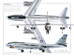 B-47 3-View Poster