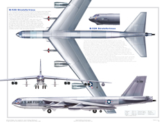 B-52 3-View Poster
