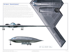 B-2 3-View Poster