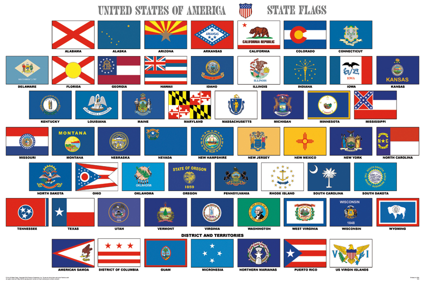 State flags on pinterest 50 states flags and us states